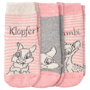 3 Paar Bambi Frottee-Socken mit ABS-Sohle
