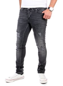 Reslad Destroyed-Jeans »Reslad Jeans Herren Destroyed Look Slim Fit Denim« Destroyed Look Slim Fit Jeans