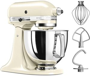 KitchenAid Küchenmaschine Artisan 5KSM125EAC, 300 W, 4,8 l Schüssel, Farbe: creme