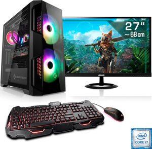 CSL »HydroX T9786« Gaming-PC-Komplettsystem (27 Zoll, Intel Core i7, GTX 1650, 16 GB RAM, 1000 GB HDD, 512 GB SSD)