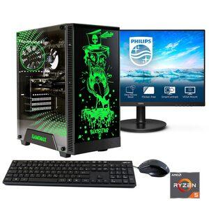 "Hyrican »Rockstar SET02101« Gaming-PC-Komplettsystem (23,8 Zoll, AMD Ryzen 5, RTX 3060, 16 GB RAM, 960 GB SSD, inklusive 24"" Monitor Philips 241V8LA/00)"