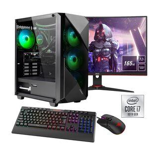 """Hyrican »Striker SET02127« Gaming-PC-Komplettsystem (27 Zoll, Intel Core i7, GeForce RTX 3060Ti, 16 GB RAM, 960 GB SSD, Wasserkühlung, inklusive 27"""" Monitor AOC C27G2AE/BK)"""