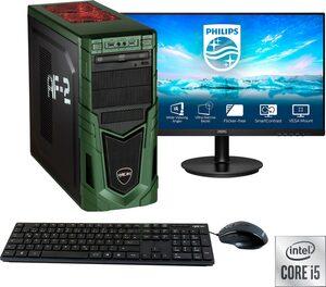 "Hyrican »Military SET02087« Gaming-PC-Komplettsystem (23,8 Zoll, Intel Core i5, RTX 3060, 16 GB RAM, 1 GB SSD, inklusive 24"" Monitor Philips 241V8LA/00)"