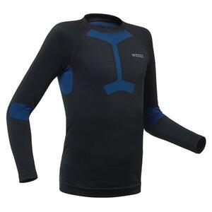 Skiunterwäsche Funktionsshirt 580 I-Soft Kinder schwarz/blau