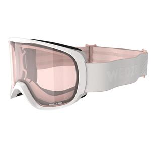 Skibrille Snowboardbrille G 500 S1 Schlechtwetter Damen/Mädchen weiss