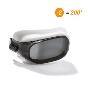 Schwimmbrillen-Glas Stärke -2.00 für Schwimmbrille Selfit Größe L getönt