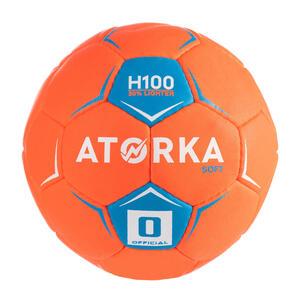 Handball H100 Soft Größe 0 Kinder orange