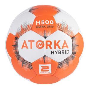 Handball Hybrid Größe 2 orange/grau