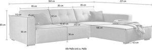 TOM TAILOR Ecksofa »HEAVEN CHIC XL«, aus der COLORS COLLECTION, wahlweise mit Bettfunktion & Bettkasten