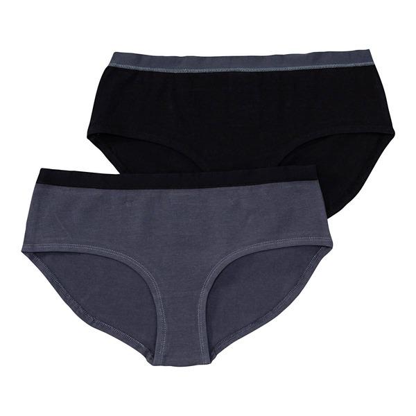 Damen-Panty mit Kontrast-Bund, 2er-Pack