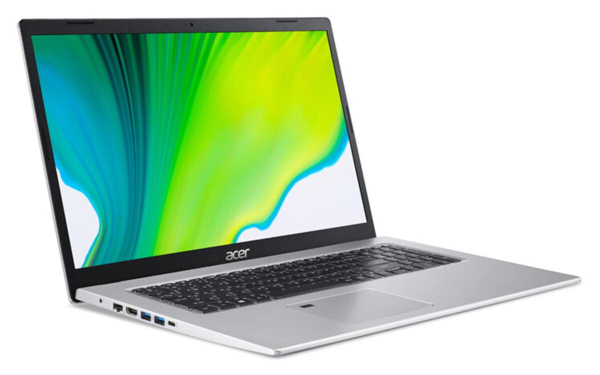 Bild 2 von ACER Aspire 5 (A517-52G-520R) Notebook (17,3 Zoll Full-HD IPS (matt), Intel Core i5-1135G7, 8 GB RAM, 512 GB SSD, NVIDIA GeForce MX350 Grafikkarte, Windows 10 Home, Fingerprintsensor, Kensington Schl