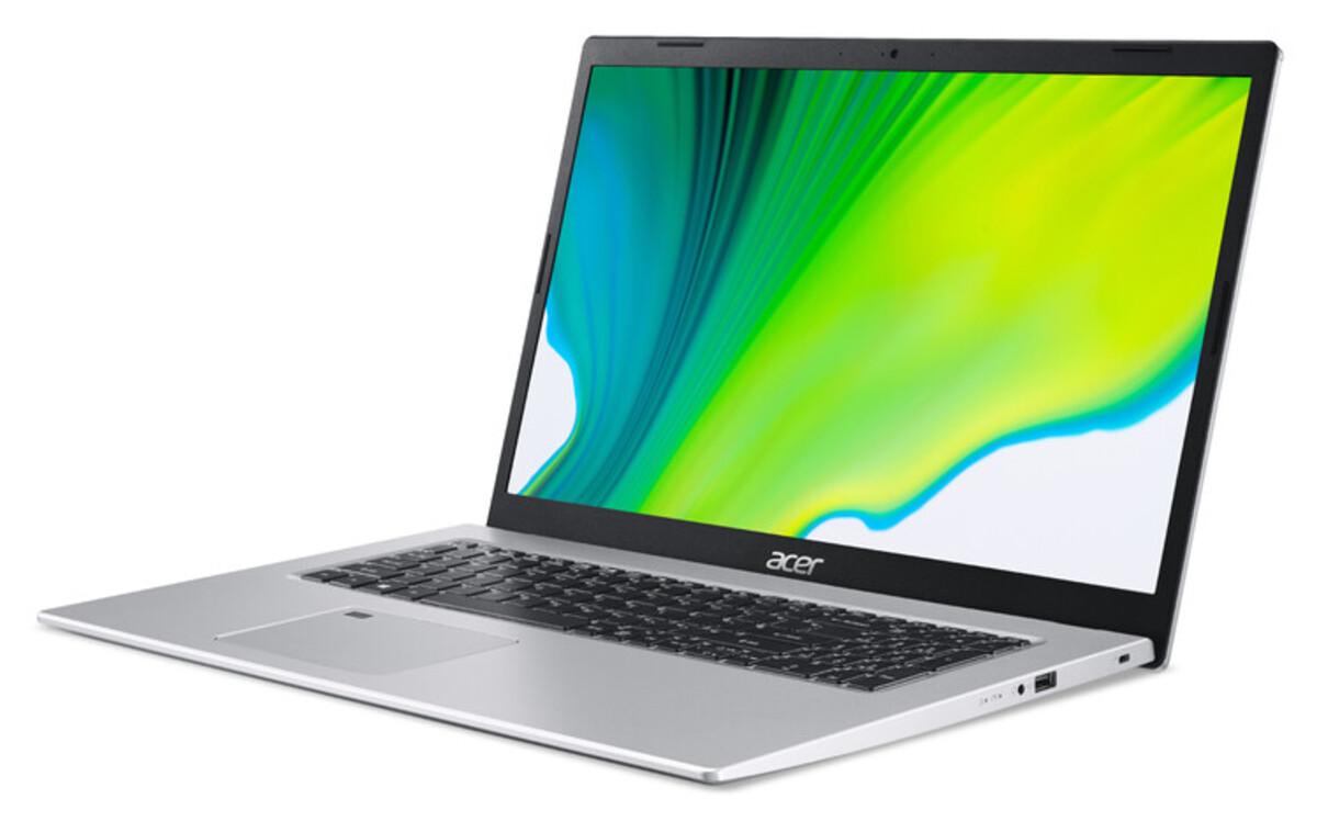 Bild 3 von ACER Aspire 5 (A517-52G-520R) Notebook (17,3 Zoll Full-HD IPS (matt), Intel Core i5-1135G7, 8 GB RAM, 512 GB SSD, NVIDIA GeForce MX350 Grafikkarte, Windows 10 Home, Fingerprintsensor, Kensington Schl