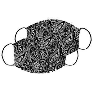 Mund-Nasen-Maske 2er Set  Schwarz