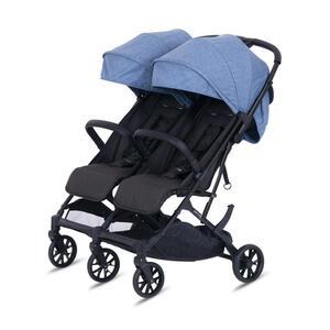 Knorr Zwillingsbuggy Twin-Easy Fold  Blau  Textil
