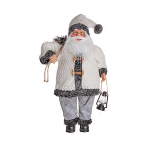 X-MAS Deko-Santa mit Mantel Höhe 89cm