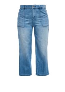 Damen Jeans-Culotte aus Leinenmix
