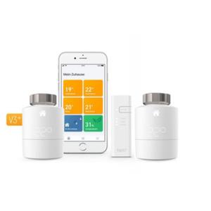 tado° Smart Home Starter Kit V3+ mit 2 Heizkörperthermostaten und Bridge