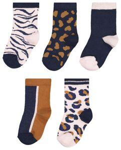 HEMA 5er-Pack Kinder-Socken, Animal Bunt