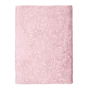 Bella Casa Kuscheldecke Super-Soft Flanell, geprägt, Ranke Rose (Burnished lilac)
