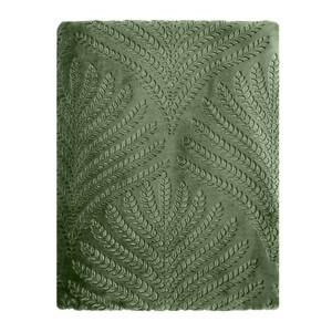 Bella Casa Kuscheldecke Super-Soft Flanell, geprägt, Farn Grün (Loden green)
