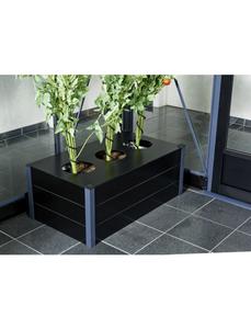 Pflanzkasten, BxHxt: 37 x 55 x 37 cm, Aluminium