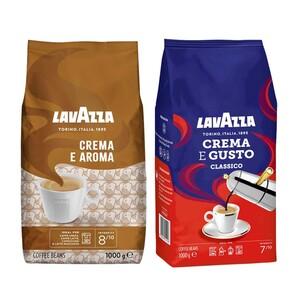 LavAzza Crema e Aroma, Crema e Gusto Classico oder Cremoso Ganze Bohnen jede 1000-g-Packung