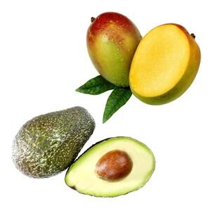 "Puerto Rico/Dominikanische Republik Mango ""Keith"" oder ""Kent"" Kolumbien/Peru Avocado ""Hass"" je Stück"