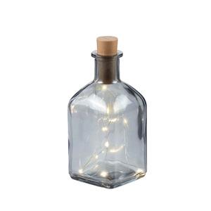 ProVida Glasflasche inklusive Lichterdraht 20 LEDs