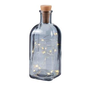 ProVida Glasflasche inklusive Lichterdraht 10 LEDs