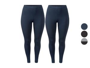 ESMARA® Damen Leggings,2 Stück, mit normaler Leibhöhe