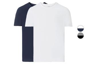 LIVERGY® Herren T-Shirt, 2 Stück, körpernah geschnitten