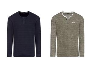 LIVERGY® Herren Langarmshirt, mit Baumwolle
