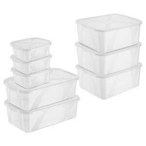 EASY HOME®  Klarsichtboxen 8er-Set
