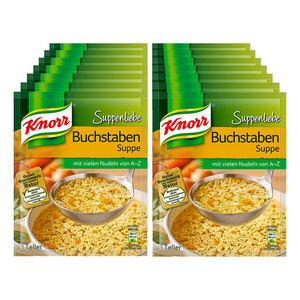 Knorr Suppenliebe Buchstabensuppe ergibt 0,75 Liter, 14er Pack