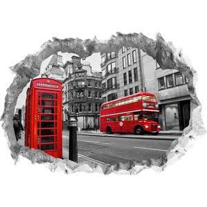 Wandtattoo 3D London mehrfarbig