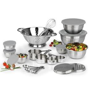 MAXXMEE Küchen-Set - 27-teilig - Edelstahl silber