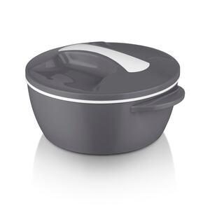 MAXXMEE Thermo-Schüssel Mikrowelle - 1400 ml - grau/weiß, Mehrfarbig