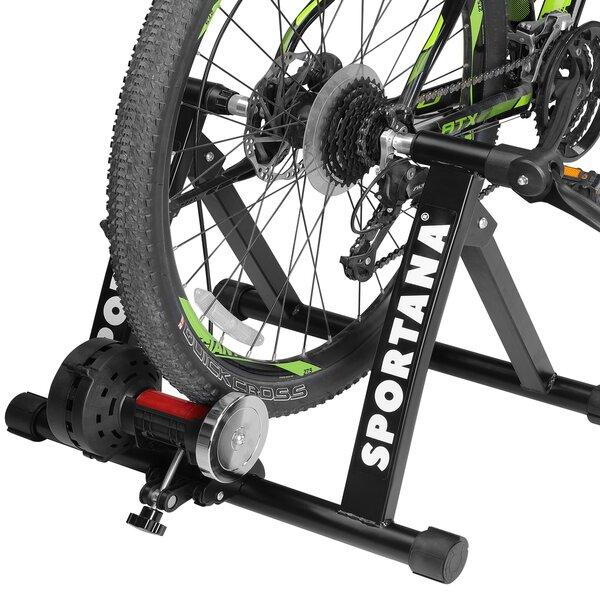 Rollentrainer Magnet Fahrrad Heimtrainer 6 Stufen bis 150kg, Schwarz
