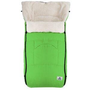 KIDIZ Babyfußsack Reißverschluss waschbar verschließbarer Kopfteil, Grün