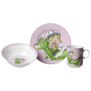 Ritzenhoff & Breker Kinderset Drache Pink 3-teilig bunt, Mehrfarbig