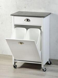Kesper Küchenwagen inkl. Mülltrennung, weiß
