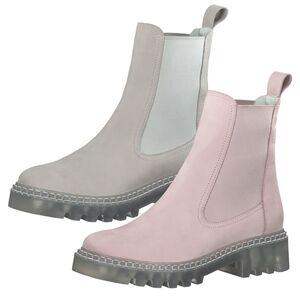 Tamaris Damen Stiefeletten Chelsea Boots Leder 1-25455-26, Größe:39 EU, Farbe:Grau