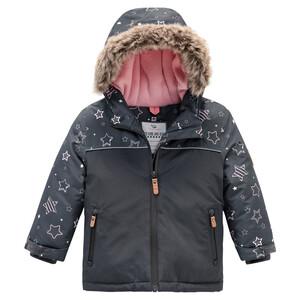 Baby Schneejacke mit Fellimitat