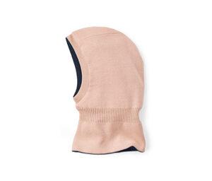 Strickschlupfmütze zum Wenden, rosa