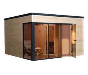 WEKA-Design-Saunahaus »Cubilis«, inkl. Ofen-Set BioS