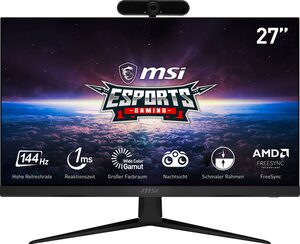 "MSI Optix G271 Gaming-Monitor (69 cm/27 "", 1920 x 1080 Pixel, Full HD, 1 ms Reaktionszeit, 144 Hz, IPS, inklusive Hyrican Full HD Webcam DW1 1920 x 1080 2 MP, USB)"