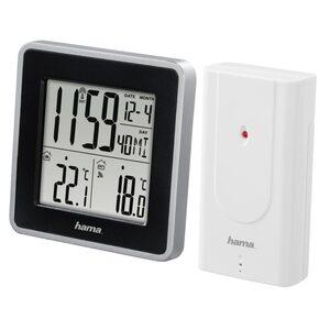 Hama Wetterstation mit Außensensor, Funk, Innen-/Außentemperatur »DCF-Funkuhr, Wecker, Kalender«