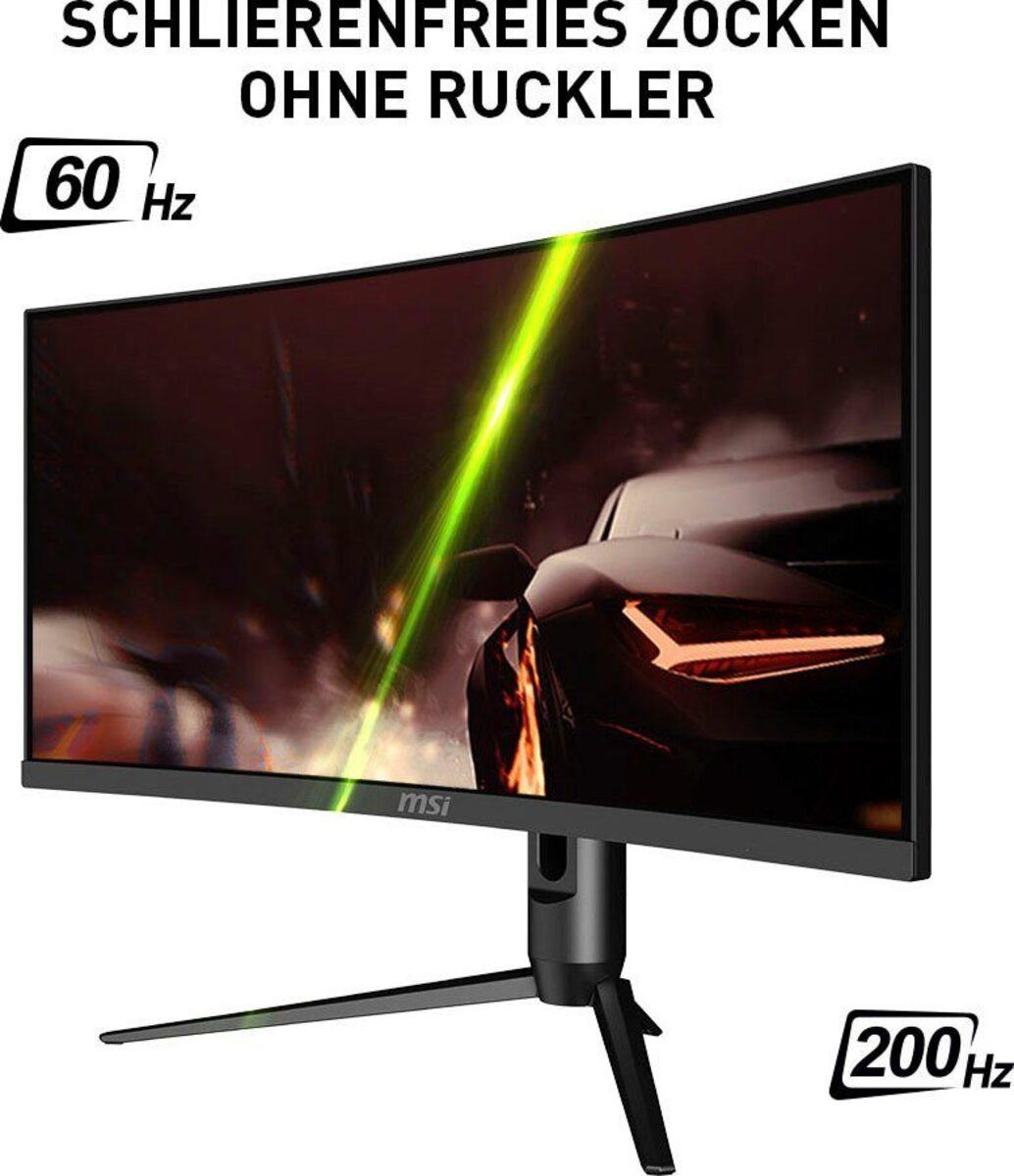 """Bild 5 von MSI Optix MAG301CR2DE Curved-Gaming-Monitor (76 cm/30 """", 2560 x 1080 Pixel, WFHD, 1 ms Reaktionszeit, 200 Hz, VA LED, 3 Jahre Herstellergarantie)"""