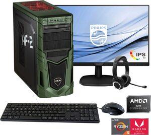"Hyrican »Multimedia PC SET02080 + Philips 273V7QDSB/00 68,6cm (27) + Hyrican ST-GH577 Headset« Gaming-PC-Komplettsystem (27"", AMD Ryzen 5, Radeon RX Vega 11, 8 GB RAM, 480 GB SSD)"