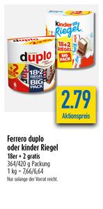 Ferrero Duplo und Kinder Schokolade